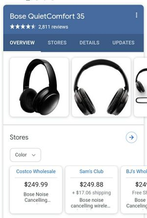 Bose quiet comfort 35 bluetooth wireless headphones for Sale in Seattle, WA