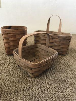 Vintage Longaberger Baskets 1983/ 1985 / 1986 for Sale in Riverside, CA
