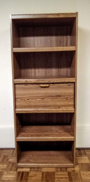 Nice bookcase or bookshelf with dropdown desk for Sale in Everett, WA