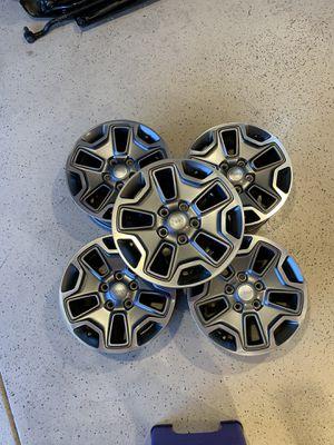 "2014 Jeep Wrangler Rubicon 17"" OEM wheels for Sale in Salinas, CA"