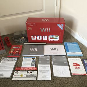25th Anniversary Mario Red Nintendo Wii for Sale in Fort Lauderdale, FL