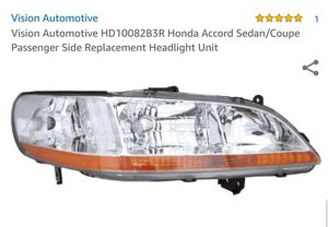 Replacement Vision HD10082B3R Passenger Side Headlight For 98-00 Honda Accord for Sale in Alexandria, VA