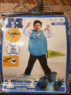 Used, Brand New Disney Pixar Monsters Sulley Costume 2T for Sale for sale  Perris, CA