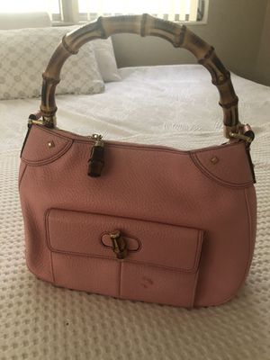 Gucci pink leather bamboo bag for Sale in Hollywood, FL