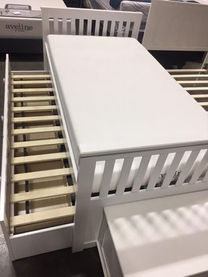 SPL Twin White Mission Captain Bed **2 MATTRESS INCLUDED**, 7590-WH for Sale in Santa Fe Springs, CA