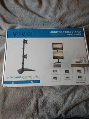 New dual monitor stand for Sale in Charlton, MA