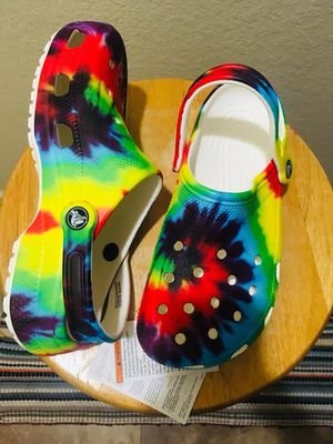 Wow! Classic Tie Dye Crocs With Tags for Sale in Sunrise, FL