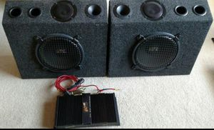 """10"""" MTX subwoofers with amp for Sale in Tracy, CA"""