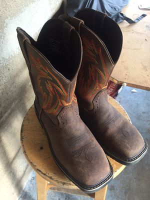 Steel toe cowboy working boots for Sale in Tampa, FL