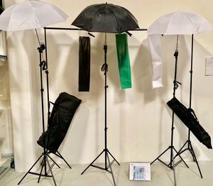 Brand new photo studio photography backdrop frame backdrops umbrellas lights stands complete kit for Sale in Whittier, CA