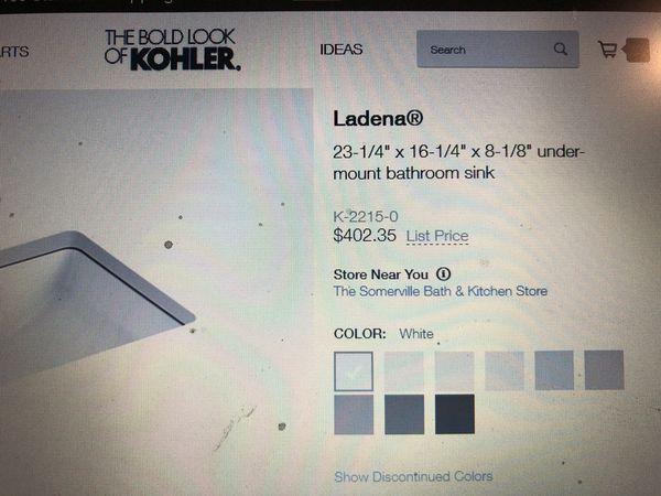 Kohler 2215-0 Ladena Bathroom Sink ***NEW***