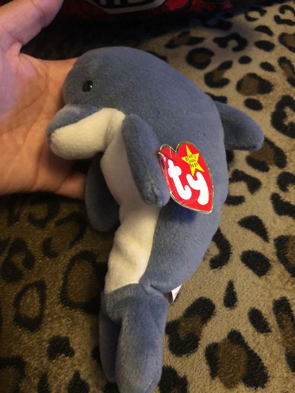 Ty dolphin beanie baby