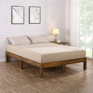 14 inch Solid Wood Platform Bed, Queen Size for Sale in Fairfax, VA