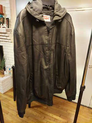 LEVIS LEATHER HOODIE JACKET/sz XL/PKUP OR SHIPPING AVAILABLE for Sale in Atlanta, GA