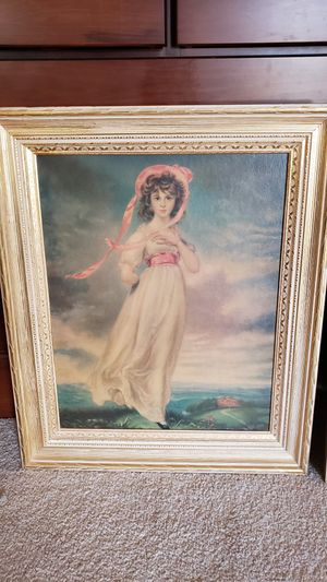Vintage Pinkie lady reproduction picture for Sale in Summerfield, NC