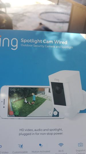 Ring wired outdoor security camera for Sale in Palo Alto, CA