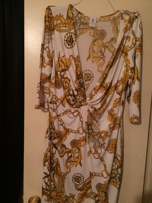 Yellow/ White 2x dress for Sale in Houston, TX