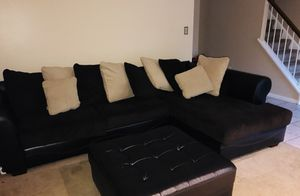 COUCH AND OTTOMAN NEED GONE ASAP ( willing to negotiate) for Sale in Fairfax, VA