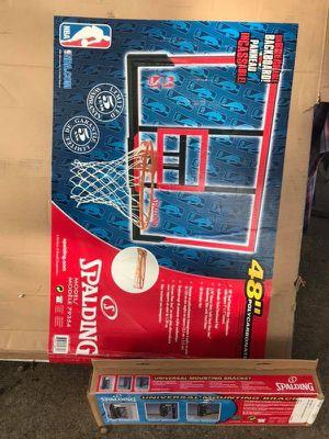 Basketball Spalding Hoop 48 inch backboard. for Sale in North Arlington, NJ
