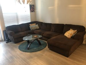 Large comfortable brown sectional couch for Sale in Atlanta, GA