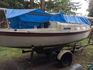 Tanzer swing keel boat with trailer $3500 without engine and many options for additional engines for Sale in Everett, WA