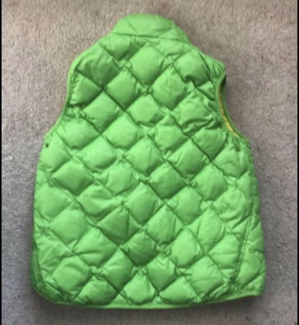 Polo Ralph Lauren RL Boys Big Pony Down Puffer Vest Size Medium (8-10) Neon