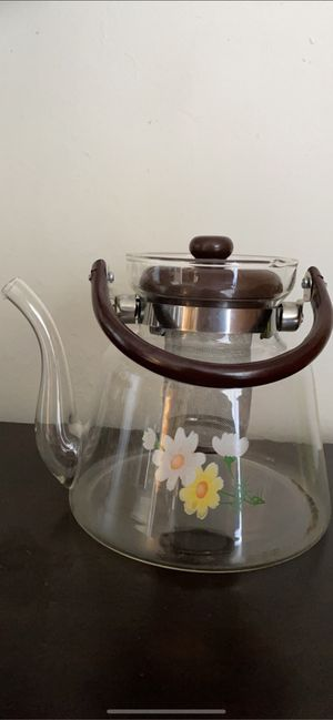Glass teapot &flowering tea new open box for Sale in South San Francisco, CA