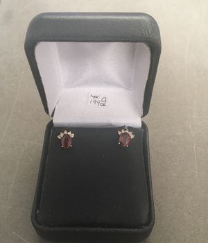 14k gold diamond earrings for Sale in Bakersfield, CA