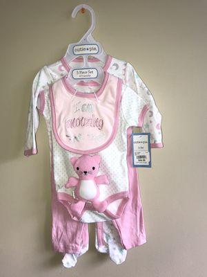Baby girl 5 piece (0-3months) New with tags for Sale in Oakton, VA