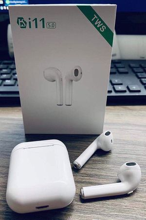 New in box Generic Apple style ear pod earphone Bluetooth headset rechargeable with charging case like airpods for Sale in Whittier, CA