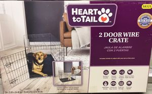 2 Door Wire Crate House Dog Pet Animal Cage for Sale in Cherry Hill, NJ