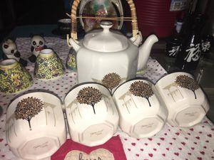 OTAGIRI JAPAN 5PC TEA SET GOLDEN MIST ANTIQUE CHINA CUP. for Sale in Pembroke Pines, FL