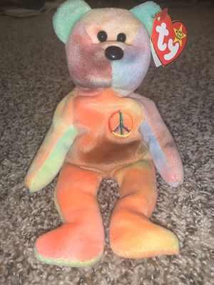 Ty Beanie Baby PEACE Bear NM Condition for Sale in Palatine, IL