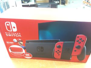 Nintendo Switch Bundle with Mario Red Joy-Con,Carring Case for Sale in Hollywood, FL