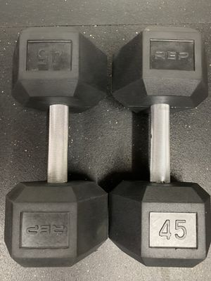 Rubber Coated Hex Dumbbells for Sale in San Jose, CA
