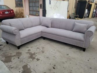 NEW 7X9FT ANNAPOLIS LIGHT GREY FABRIC SECTIONAL COUCHES for Sale in La Mesa,  CA