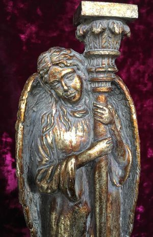 Set 2 Angel candle holders, H13xW4.5 inch for Sale in Chandler, AZ