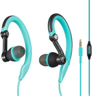 mucro Running Headphones Over Ear in Ear Sport Earbuds Earhook Wired Stereo Workout Ear Buds for Jogging Gym for Samsung Android Phones Tablets (Blue) for Sale in Syosset, NY