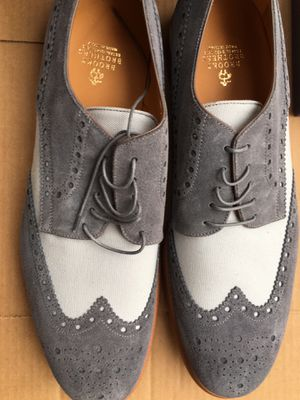 Brooks Brothers suede and linen wingtips new in box for Sale in Silver Spring, MD