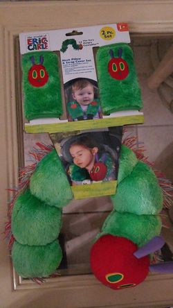 Eric carle neck pillow and strap cover set for Sale in Miami,  FL