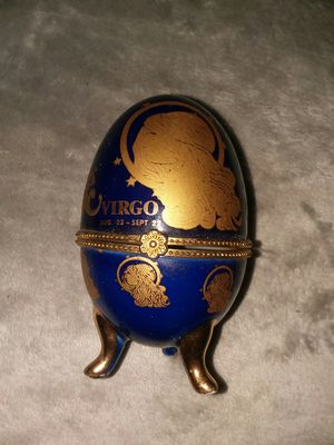 Virgo glass collectible egg for Sale in Orlando, FL