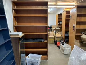 8 Wood display retail, storage shelf, bookcases for Sale in Gresham, OR