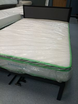 10 Inch linenspa latex hybrid mattress 50 down same day delivery for Sale in Grove City, OH