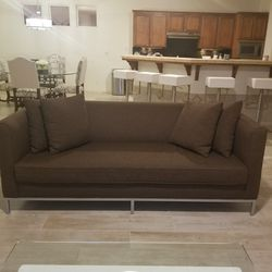 Mid Century Modern Brown Couch for Sale in Fresno,  CA