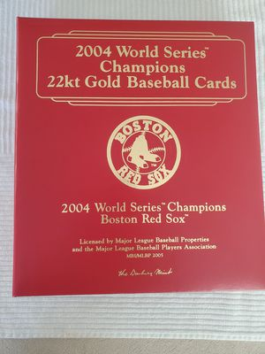 2004 Red Sox Championship 22kt gs baseball cards from the Danbury Mint for Sale in Middletown, CT