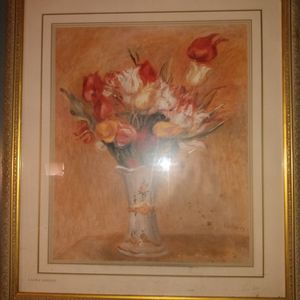 Beautiful Painting For Living Space Glass Is Perfect And Back Is Great Condition By Laura Ashley for Sale in Oak Lawn, IL
