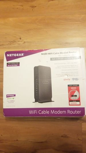 Netgear N600 Modem Router for Sale in San Diego, CA