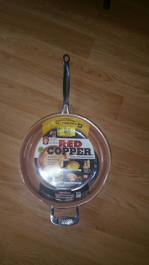 Red copper skillet pan as seen on tv for Sale in Fairview, OR