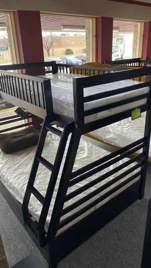 Bunkbed Bunk Bed Twin over Full FINANCE TODAY NO DOWN EW for Sale in Euless, TX