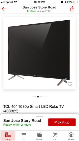 TCL Roku Tv and Wall Mount for Sale in San Jose, CA